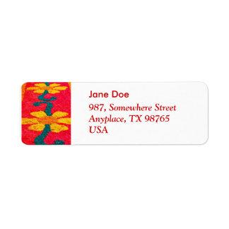 Flower carpet return address labels
