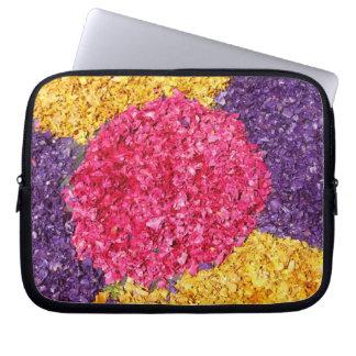 Flower carpet laptop sleeve