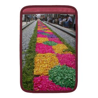 Flower carpet MacBook air sleeve
