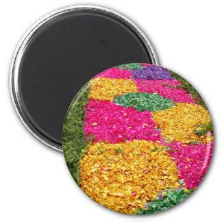 Flower carpet 2 inch round magnet