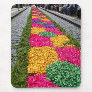 Flower carpet mouse pad