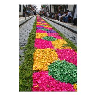 Flower carpet photo print