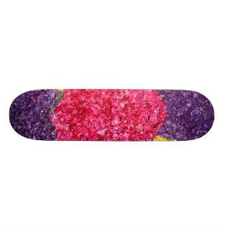 Flower carpet skateboard deck