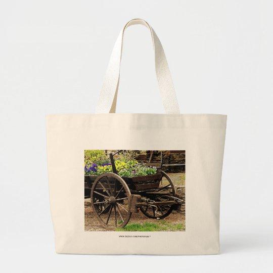 Flower Cart Large Tote Bag