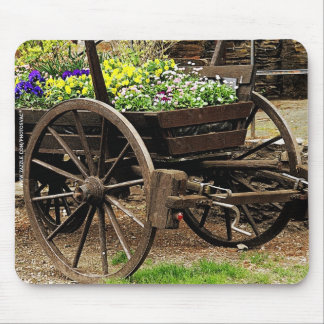 Flower Cart Mouse Pad