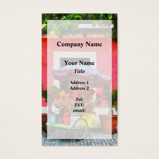 Flower Cart San Juan, Puerto Rico Business Card