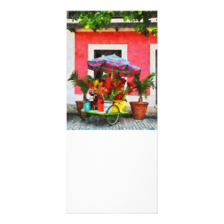 Flower Cart San Juan, Puerto Rico Full Color Rack Card