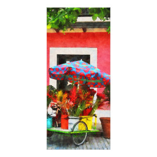 Flower Cart San Juan, Puerto Rico Rack Card Template