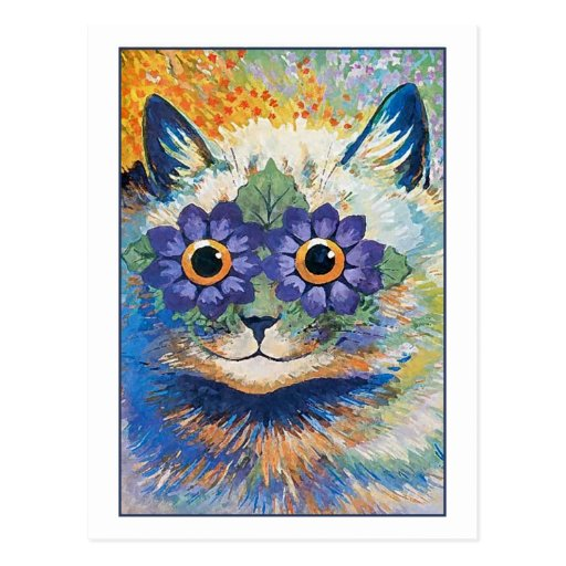 Flower Cat by Louis Wain Post Card