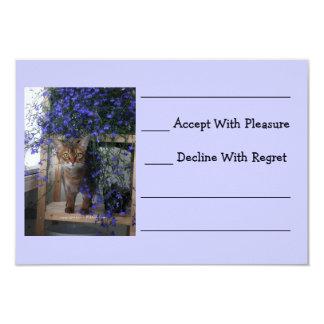 Flower Cat 3.5x5 Paper Invitation Card