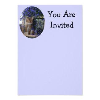 Flower Cat 5x7 Paper Invitation Card