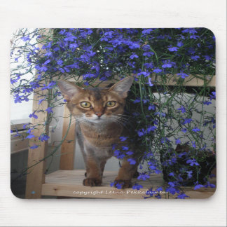 Flower Cat Mouse Pad