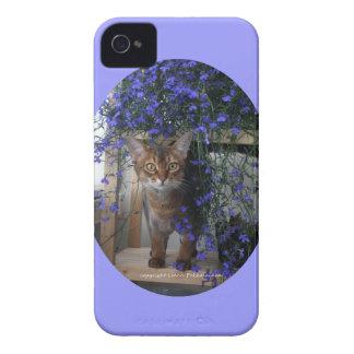 Flower Cat Oval Case-Mate iPhone 4 Case