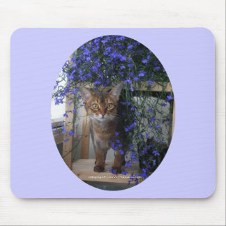Flower Cat oval Mousepads