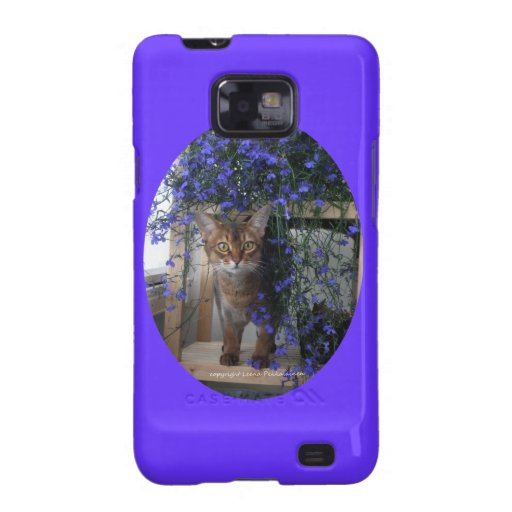 Flower Cat Oval Samsung Galaxy S2 Cases