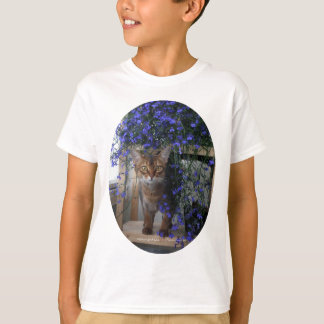 Flower Cat (oval) T-Shirt
