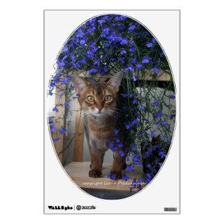 Flower Cat Wall Sticker