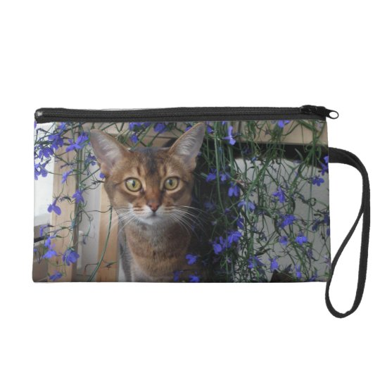 Flower Cat Wristlet Purse