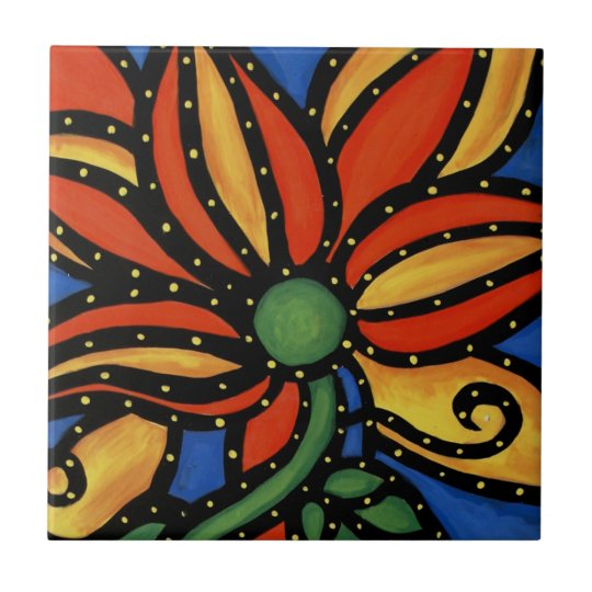 Flower Ceramic Tile