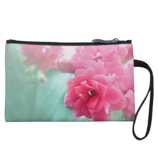 Flower cerise pink roses photo art clutch bag