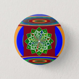 FLOWER CHAKRA Wheel Energy: Emerald Green Button