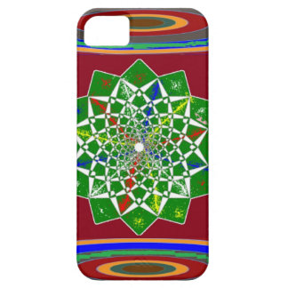 FLOWER CHAKRA Wheel Energy: Emerald Green iPhone 5 Case