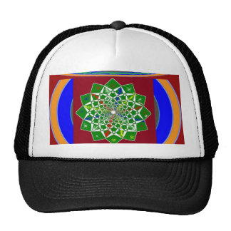 FLOWER CHAKRA Wheel Energy: Emerald Green Trucker Hat