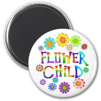 FLOWER CHILD 2 INCH ROUND MAGNET