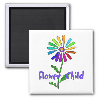 Flower Child 2 Inch Square Magnet