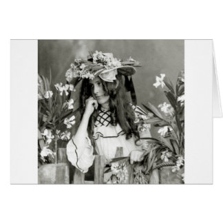 Flower Child Ahead of Her Time: 1902 Card