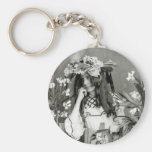 Flower Child Ahead of Her Time: 1902 Key Chains