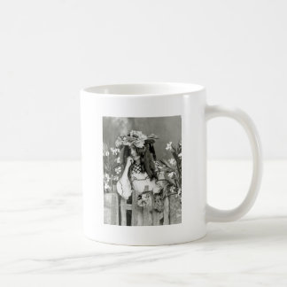 Flower Child Ahead of Her Time: 1902 Coffee Mug