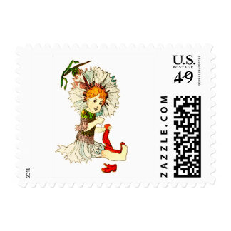 FLOWER CHILD BACHELOR BUTTON FLORAL FAIRY POSTAGE