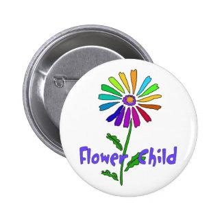 Flower Child 2 Inch Round Button