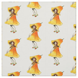 FLOWER CHILD CALIFORNIA POPPY FLORAL FAIRY PATTERN FABRIC