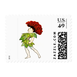 FLOWER CHILD - COCKS-COMB FLORAL FAIRY POSTAGE