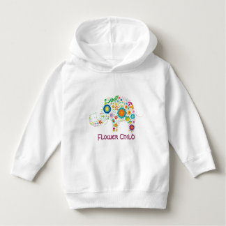 Flower Child Elephant - Toddler Hoodie