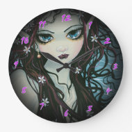 Flower Child Fairy Fantasy Art Clock