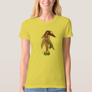 Flower Child Fairy Ladies Organic T-Shirt (Fitted)