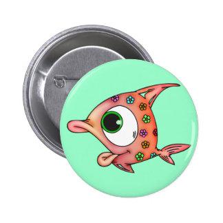 Flower Child Fish 2 Inch Round Button