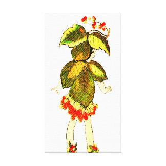 FLOWER CHILD FLORAL FAIRY PATTERN CANVAS PRINT