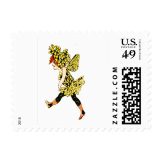 FLOWER CHILD FLORAL FAIRY POSTAGE STAMPS