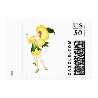 FLOWER CHILD FLORAL FAIRY POSTAGE