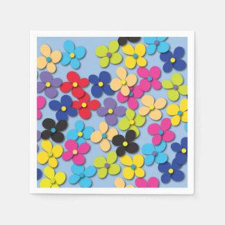 Flower Child Hippie Trippy Peace Fine Floral Paper Napkin