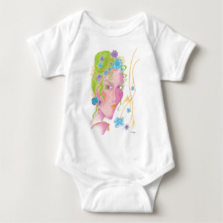 """Flower Child"" Original Painting Baby Bodysuit"