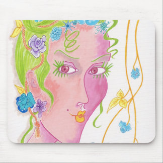 """Flower Child"" Original Painting Mouse Pad"