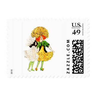 FLOWER CHILD - PANSY FLORAL FAIRY STAMP