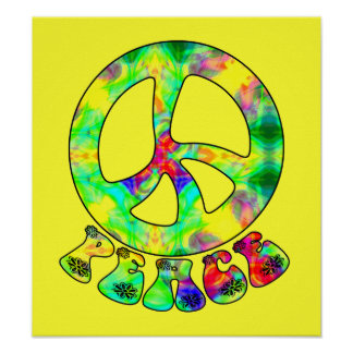 Flower Child Peace Poster
