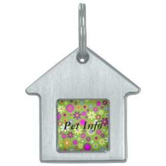 Flower Child Pet ID Tag