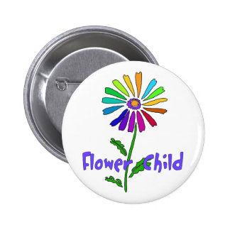 Flower Child Pinback Button